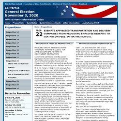 Proposition 22 Arguments and Rebuttals