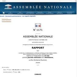 N°1171 - Rapport de Mme Émilienne Poumirol sur la proposition de loi , adoptée par le Sénat, relative à l'instauration du 27 mai comme journée nationale de la Résistance (n°849)