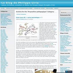 Proposition pédagogique « Le blog de Philippe Liria