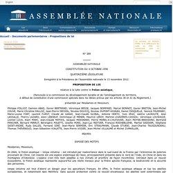 ASSEMBLEE NATIONALE 13/11/12 PROPOSITION DE LOI relative à la lutte contre le frelon asiatique,
