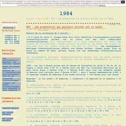 EPI : une proposition qui pourrait arriver sur la table … · 1984