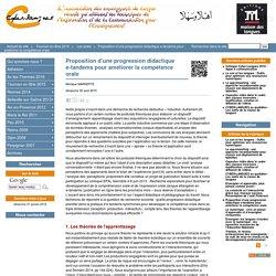 Proposition d'une progression didactique e-tandems pour améliorer la compétence orale