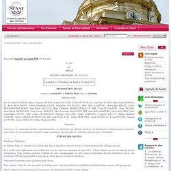 proposition de loi tendant à reconnaître le bulletin blanc