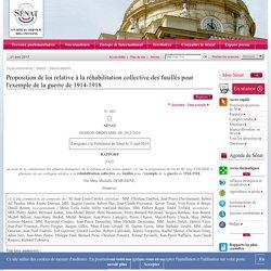 Proposition de loi relative à la réhabilitation collective des fusillés pour l'exemple de la guerre de 1914-1918