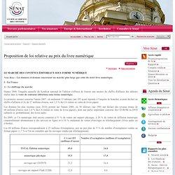 Proposition de loi relative au prix du livre numérique