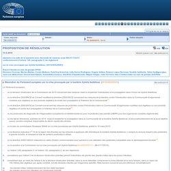 PARLEMENT EUROPEEN 13/05/15 PROPOSITION DE RÉSOLUTION déposée à la suite de la question avec demande de réponse orale B8-0117/2015 conformément à l'article 128, paragraphe 5, du règlement sur la crise provoquée par Xylella fastidiosa (2015/2652(RSP))