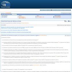 PARLEMENT EUROPEEN 14/12/15 PROPOSITION DE RÉSOLUTION sur les brevets et les droits d'obtention végétale (2015/2981(RSP))