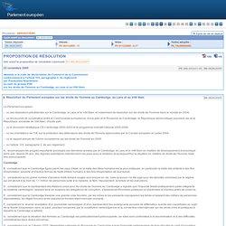 PROPOSITION DE RÉSOLUTION sur les droits de l'homme au Cambodge, au Laos et au Viêt Nam - B6-0626/2005