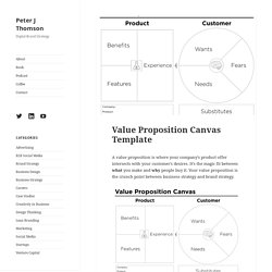 Value Proposition Canvas Template - Peter J Thomson