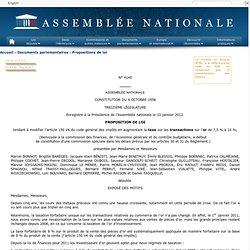 4145 - Proposition de loi de M. Marcel Bonnot tendant à modifier l'article 150 VK du code général des impôts en augmentant la taxe sur les transactions sur l'or de 7,5% à 10%