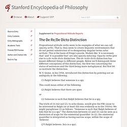 Propositional Attitude Reports > The De Re/De Dicto Distinction