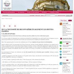 Sénat nationalité et reconnaissance dettes du passé