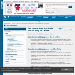 Des propositions d'activités tout au long de l'année — Prix Jean Renoir des Lycéens