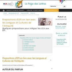 Propositions d'EPI en lien avec les Langues et Cultures de l'Antiquité
