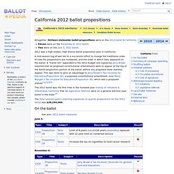 California 2012 ballot propositions