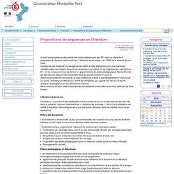 Alice au pays des merveilles et d'autres / Propositions de séquences en littérature - Circonscription Montpellier Nord