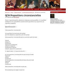 QCM Propositions circonstancielles