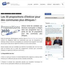 Les 30 propositions d'Anticor pour des communes plus éthiques !