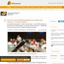 Covid-19: plus de 20 000 propositions de citoyens pour construire «le monde d'après»