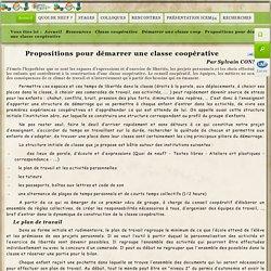 Propositions pour démarrer une classe coopérative