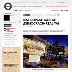 Les propositions de ¡Democracia Real Ya!