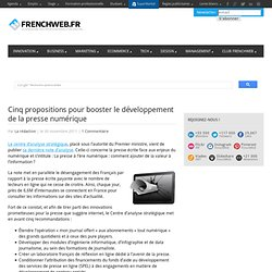 Cinq propositions pour booster le développement de la presse numérique