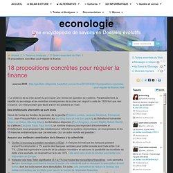 18 propositions concrètes pour réguler la finance