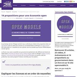 14 propositions pour une économie open
