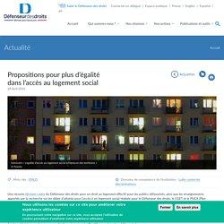 Propositions pour plus d'égalité dans l'accès au logement social