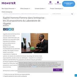 20 propositions pour l'égalité Homme/Femme en entreprise