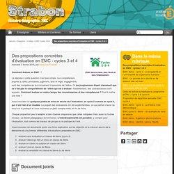 Des propositions concrètes d'évaluation en EMC - cycles 3 et 4