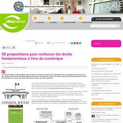 Villes Internet>50 propositions pour renforcer les droits fondamentaux à l'ère du numérique