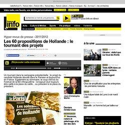 Les 60 propositions de Hollande : le tournant des projets - Hyper revue de presse