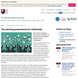 The learning propositions for millennials