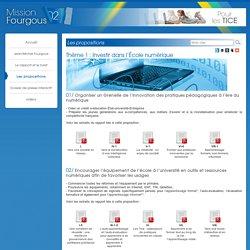 Les propositions - Mission Fourgous