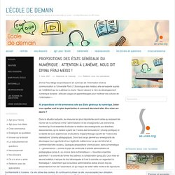 Propositions des États généraux du numérique : attention à l'anémie, nous dit Divina Frau-Meigs !