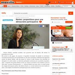 Nantes: propositions pour une démocratie participative
