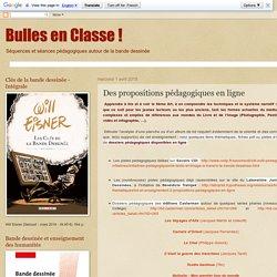 Bulles en Classe !: Des propositions pédagogiques en ligne