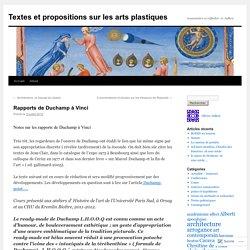 Textes et propositions sur les arts plastiques