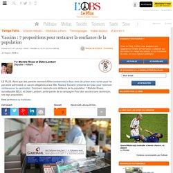 Vaccins : 7 propositions pour restaurer la confiance de la population
