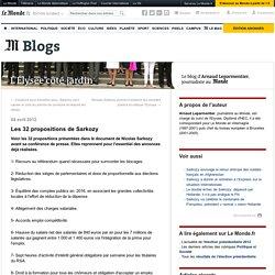 Les 32 propositions de Sarkozy