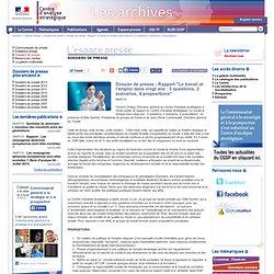"""Dossier de presse - Rapport """"Le travail et l'emploi dans vingt ans : 5 questions, 2 scénarios, 4 propositions"""""""