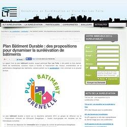 Les propositions du Plan Bâtiment Durable pour la surélévation