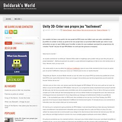 "Créer son propre jeu ""facilement"" @ Beldarak's World"