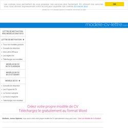 Créez votre propre Modèle de CV et téléchargez le sous Word / Open Office