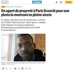 Un agent de propreté à Paris licencié pour une photo le montrant en pleine sieste