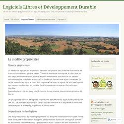 Le modèle propriétaire – Logiciels Libres et Développement Durable