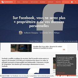 """Sur Facebook, vous ne serez plus """"propriétaire"""" de vos données personnelles"""