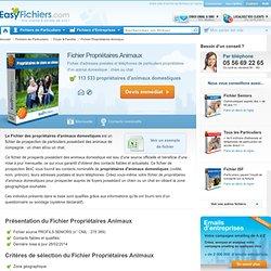 Fichier Propriétaires Animaux domestiques - Achat en ligne