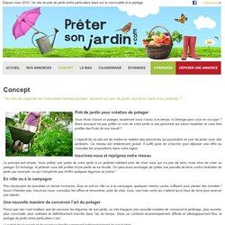 Prêt de jardin entre particuliers - Mise en relation entre des propriétaires de jardins et des amateurs de jardinage
